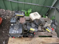 5 X PETROL ENGINES, RUNNING WHEN REMOVED.