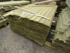 LARGE BUNDLE OF SHIPLAP TIMBER FENCE CLADDING @1.43M LENGTH X 10CM WIDE APPROX.