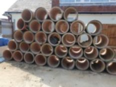 QUANTITY OF CULVERT PIPES, APPROXIMATELY 32 IN TOTAL. LENGTH 1M X 0.5M WIDE.