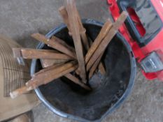 BUCKET CONTAINING ASSORTED BREAKER POINTS/CHISELS.