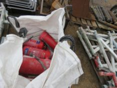 BULK BAG CONTAINING FIREFIGHTING EQUIPMENT, CONDITION UNKNOWN.