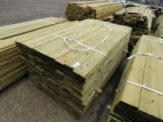 LARGE PACK OF FEATHER EDGE FENCE CLADDING TIMBER @ 1.65M LENGTH X 10.5CM WIDE APPROX