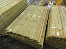 LARGE BUNDLE OF SHIP LAP TIMBER FENCE CLADDING @1.73M LENGTH X 10CM WIDE APPROX.
