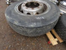 1 X 315/80R22.5 10 STUD WHEEL AND TYRE.