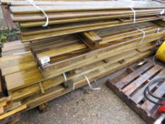 LARGE STACK OF ASSORTED TIMBER 8-10FT APPROX.