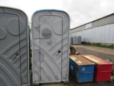 PORTABLE SITE TOILET WITH HAND SANITISER STATION.