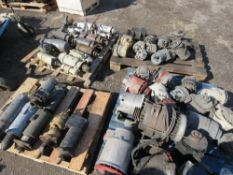 4 X PALLETS OF PRE USED STARTERS AND ALTERNATORS.