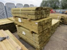 3 X BUNDLES OF FEATHER EDGE TIMBER CLADDING @1.5M X 10.5CM WIDE APPROX.