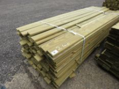 PACK OF PROFILED FENCING TIMBER 2.4CM DEEP, 10CM WIDE @ 2.4M LENGTH APPROX.