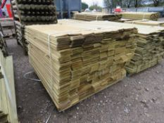 LARGE BUNDLE OF TIMBER FENCE CLADDING @1.13M LENGTH X 10CM WIDE APPROX.