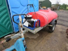 WESTERN WASHER BOWSER WITH BRENDON PETROL ENGINED WASHER UNIT. WHEN TESTED WAS SEEN TO RUN AND APPEA