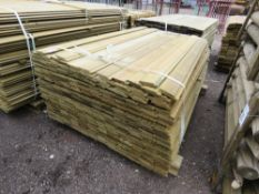 LARGE BUNDLE OF SHIPLAP TIMBER FENCE CLADDING @1.55M LENGTH X 10CM WIDE APPROX.
