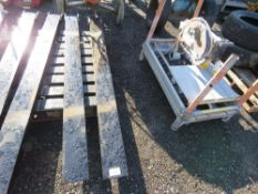 PAIR OF FORKLIFT EXTENSION TINES 2METRE LENGTH.