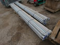 2 X BUNDLES OF 20NO (40NO TOTAL) 10FT TOWER SCAFFOLD POLES. BOSS TYPE.