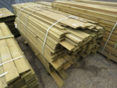 LARGE BUNDLE OF SHIPLAP TIMBER FENCE CLADDING @1.75-2.1M LENGTHS X 10CM WIDE APPROX.