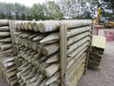 48 X TREATED TIMBER FENCING STAKES 5FT LENGTH APPROX X 9CM DIAMETER.