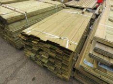 LARGE PACK OF FENCE CLADDING TIMBER @ 1.75M LENGTH X 9.5CM WIDE X 0.7CM DEPTH APPROX