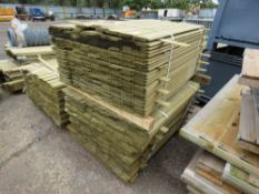 2 X PACKS OF SHIPLAP TIMBER FENCE CLADDING @1.43M LENGTH X 10CM WIDE APPROX.