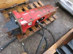 """TAKEUCHI 3TONNE BREAKER, 30MM PINS. GOOD POINT. DESCRIBED BY VENDOR AS """"A WORKING MACHINE""""."""