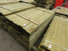 LARGE PACK OF FEATHER EDGE FENCE CLADDING TIMBER @ 1.8M LENGTH X 10.5CM WIDE APPROX