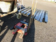 BOLZONI FORK ROTATOR UNIT WITH FORKS. CONDITION UNKNOWN.