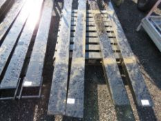 PAIR OF FORKLIFT EXTENSION TINES, 2METRE LENGTH.