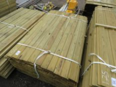 LARGE BUNDLE OF SHIPLAP TIMBER FENCE CLADDING @1.54M LENGTH X 10CM WIDE APPROX.