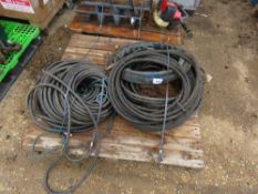 PALLET OF HYDRAULIC HOSES.