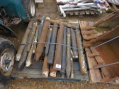 PALLET CONTAINING APPROX 23 X ASSORTED EXCAVATOR BREAKER POINTS.