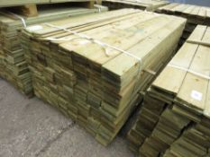 LARGE BUNDLE OF FEATHER EDGE TIMBER CLADDING @1.8M X 10.5CM WIDE APPROX.