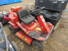 HST PETROL ENGINED BANK CUTTING MOWER. WHEN TESTED WAS SEEN TO RUN AND DRIVE AND BLADES TURNED.