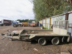 IFOR WILLIAMS GX106 10FT LONG PLANT TRAILER, YEAR 2006. SN:SCK60000060480316 WITH SPARE WHEEL.