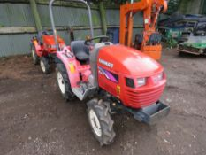 YANMAR KE1 4WD COMPACT TRACTOR WITH REAR LINKAGE. 475 RE HRS. WHEN TESTED WAS SEEN TO RUN, DRIVE, PT