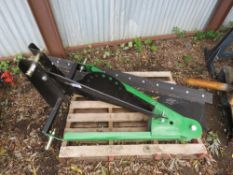 TRACTOR MOUNTED SCRAPER BLADE WITH RUBBER EDGE. 6FT WIDE APPROX.