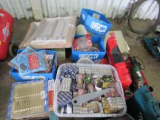 PALLET OF NAILS, FIXINGS, WHEEL LOCK, KEY SAFES, DRAWER RUNNER SETS ETC.. DIRECT FROM DEPOT CLOSURE