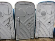 PORTABLE SITE TOILET WITH HAND BASIN.