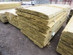 LARGE BUNDLE OF SHIPLAP TIMBER FENCE CLADDING @1.75M LENGTH X 10CM WIDE APPROX.