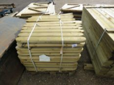 PALLET OF ROUNDED PLAYGROUND FENCE PARTS. 0.9M LENGTH.