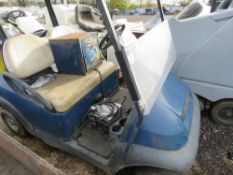 CLUB CAR BATTERY GOLF BUGGY, CONDITION UNKNOWN.