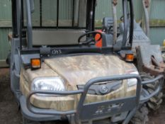 KUBOTA RTV, YEAR 2008. HYDRAULIC TIPPING. 3167 REC HOURS. WHEN TESTED WAS SEEN TO DRIVE STEER AND BR