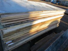 APPROX 50 X PRE USED PLYWOOD SHEETS.