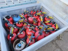 STILLAGE OF FIRE FIGHTING EQUIPMENT. SOURCED FROM LOCAL DEPOT CLEARANCE DUE TO A CHANGE IN POLICY.