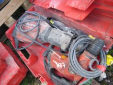 HILTI TE1000 PLUS 3 OTHER DRILLS. CONDITION UNKNOWN.