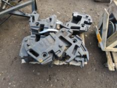 PALLET CONTAINING 18 X 31KG SOLIS TRACTOR FRONT WEIGHTS.
