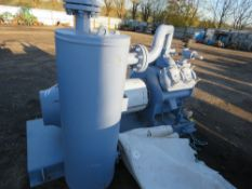 GRASSO V300 AMMONIA REFRIDGERATION COMPRESSOR UNIT WITH TANK, YEAR 2015. INSTALLED AND REMOVED IN 20