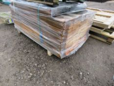 PACK OF TIMBER FENCE CLADDING.