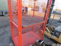 """MESH COVERED GAS BOTTLE CAGE 4FT X 2FT6"""" APPROX."""