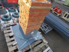 CGFMA FIBRE GLASS CHIMNEY STACK. GRP CENTRE AND BASE WITH REAL BRICK FACING. BELIEVED TO BE 25 DEGR
