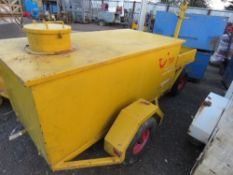 4 WHEELED WASTE OIL COLLECTION TRAILER, PREVIOUSLY USED AT MAJOR AIRPORT.