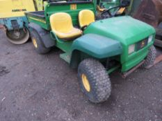 JOHN DEERE 4X2 PETROL GATOR UTILITY VEHICLE. WHEN TESTED WAS SEEN TO RUN AND DRIVE.